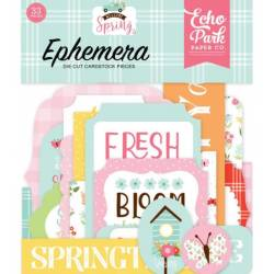Die Cuts - Echo Park - Frames & Tags - Welcome Spring
