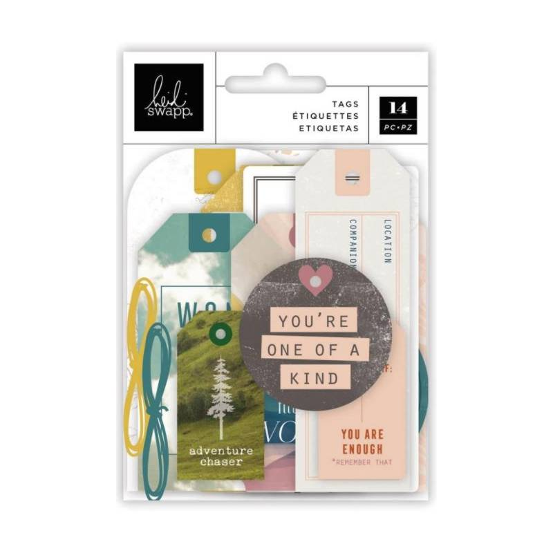 Die Cuts Tags Etiquettes - Heidi Swapp - Care Free
