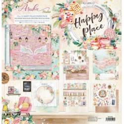 Pack Papier 30.5 x 30.5 cm - Asuka Studio - Happy place