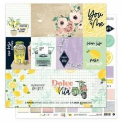 Kit Papiers Imprimés Florilèges - Dolce Vita 30.5 X 30.5