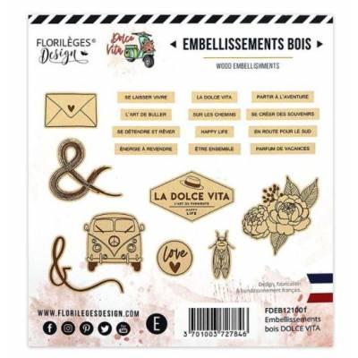 Embellissements bois gravé - Florilèges - Dolce Vita