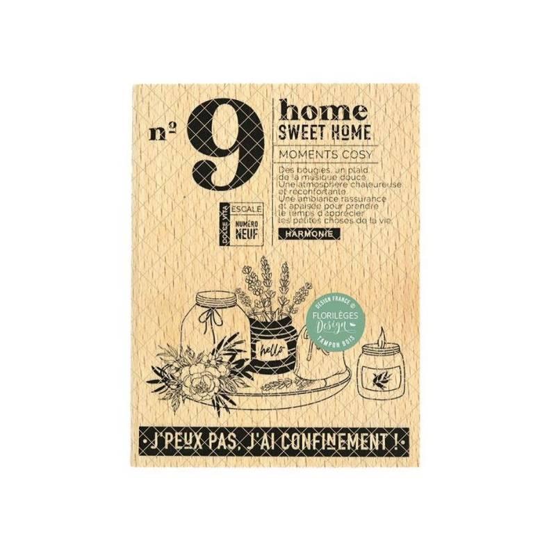 Tampon bois - Florilèges - Dolce Vita - N°9 Sweet Home