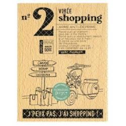 Tampon bois - Florilèges - Dolce Vita - N°2 Virée Shopping