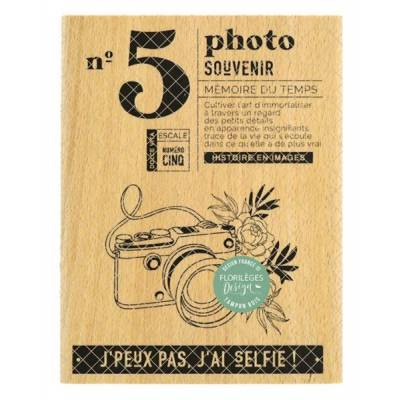 Tampon bois - Florilèges - Dolce Vita - N°5 Photo Souvenir