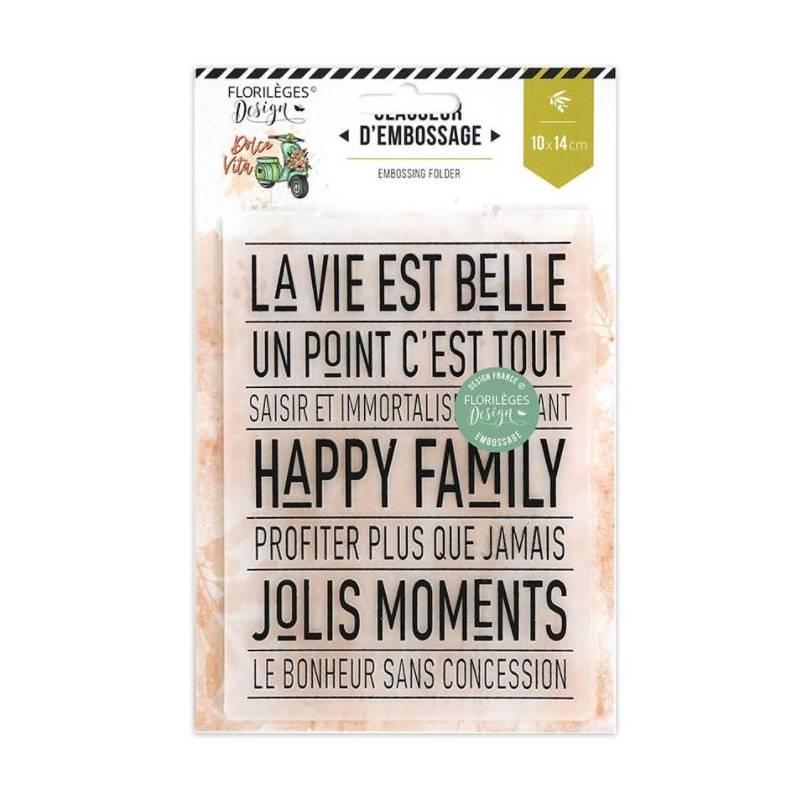 Plaque d'embossage - Happy Family
