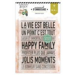 Plaque d'embossage - Happy Family
