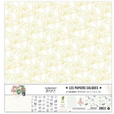 Kit Calques Florilèges - Dolce Vita 30.5 X 30.5