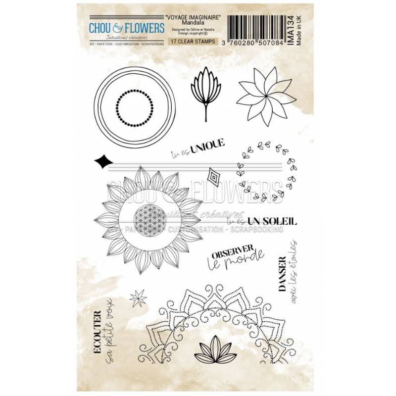 Tampons Clear - Chou & Flowers - Mandala
