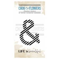 Tampons Clear - Chou & Flowers - Esperluette Rayure