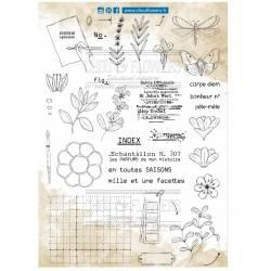 Tampons Clear - Chou & Flowers - Pêle-mêle