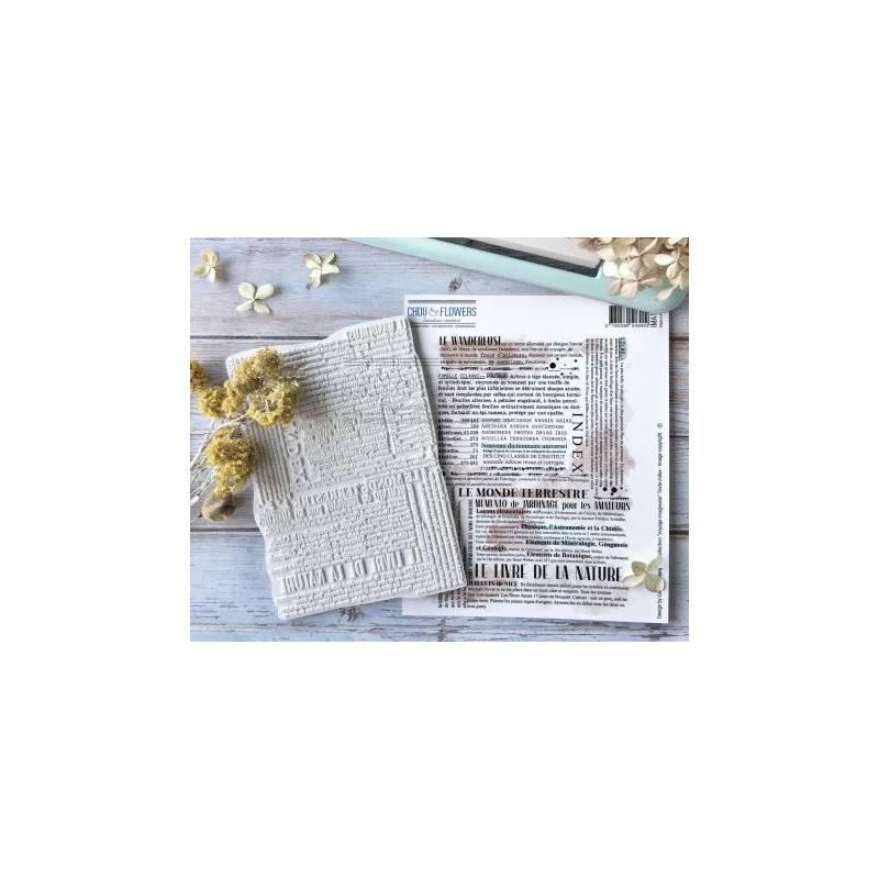 Tampons EZ - Chou & Flowers - Texte Index