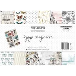 Pack Papier A4 - Chou & Flowers - Voyage imaginaire