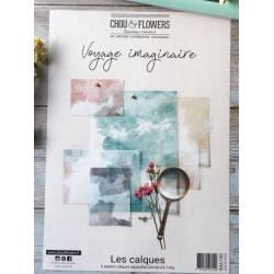 Pack Calques Aquarelle A4 - Chou & Flowers - Voyage imaginaire
