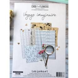 Pack Papier A4 - Chou & Flowers - Voyage imaginaire - Les Junks