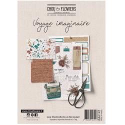 Papiers A5 - Chou & Flowers - Les illustrations - Voyage imaginaire