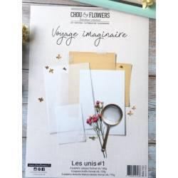 Pack Papier A4 - Chou & Flowers - Voyage imaginaire - Les Unis