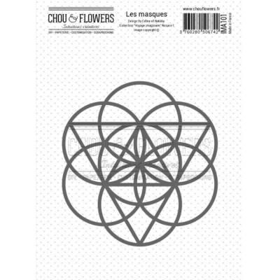 Pochoir Masque - Chou & Flowers - Voyage imaginaire - Rosace 1