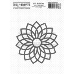 Pochoir Masque - Chou & Flowers - Voyage imaginaire - Rosace 2