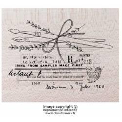 Tampons Bois - Chou & Flowers - Plume et pinceau