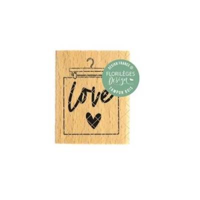 Tampon bois - Florilèges - Dolce Vita - Suspension Love