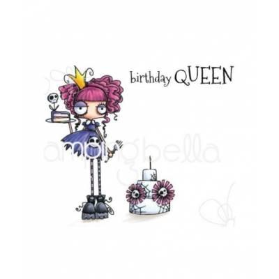 Tampons Cling - Stampingbella - Oddball Birthday Queen