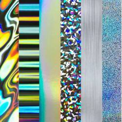 Pack Papier 15.2 x 15.2 - Etc Papers - Holographic Film Pack