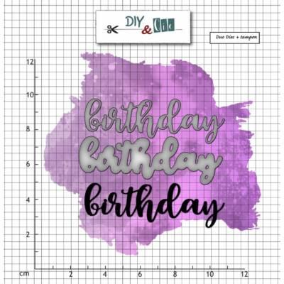 Dies et tampons DIY & Cie - Birthday