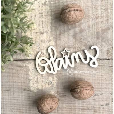 Mot en bois - Copains - Stampam