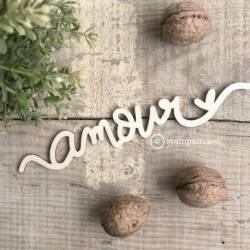 Mot en bois - Amour - Stampam
