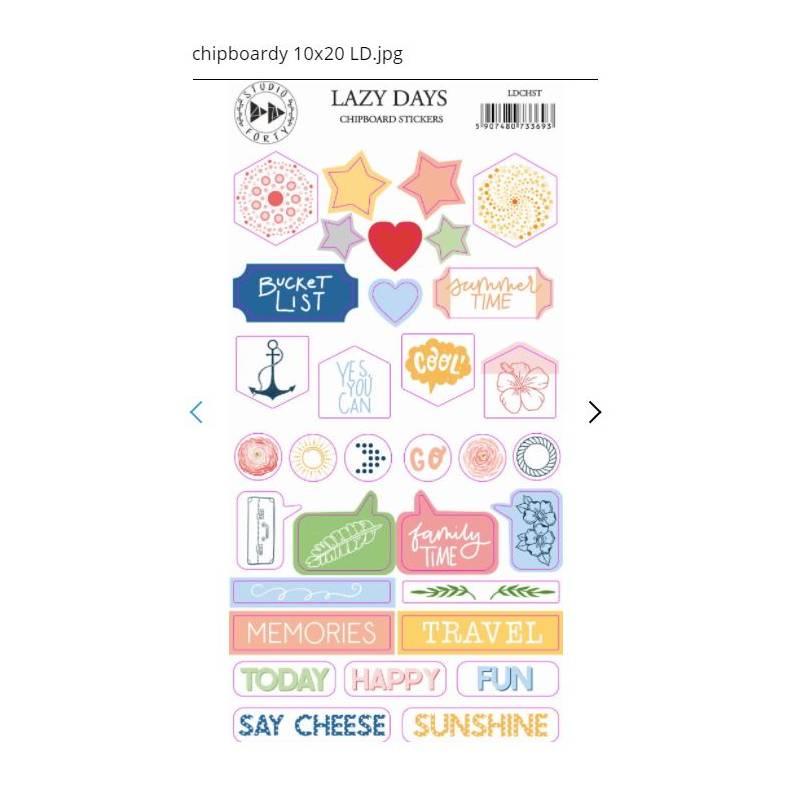 Chipboard Stickers - Studio Forty - Lazy days