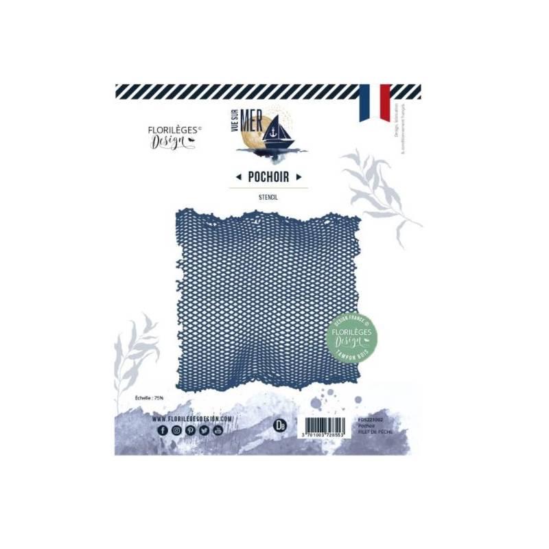 Pochoir - Florilèges - Vue sur mer - Filet de pêche