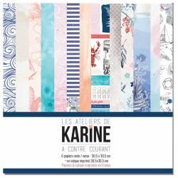 Pack Papiers 30 x 30 - Les Ateliers de Karine - A contre courant