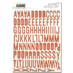Alphabet adhésif en mousse corail - Les Ateliers de Karine - A contre courant