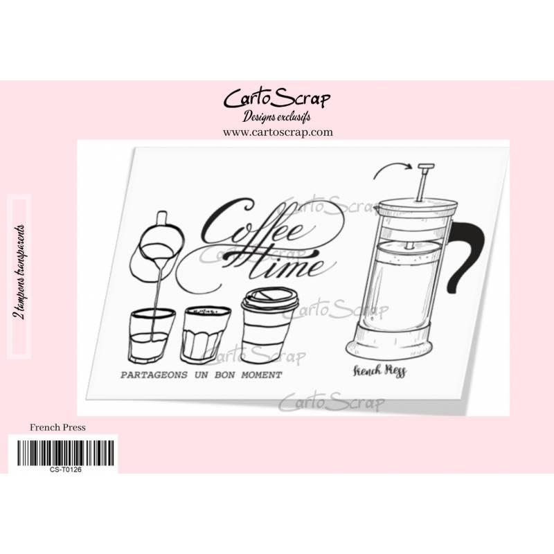 Tampons CartoScrap - French Press