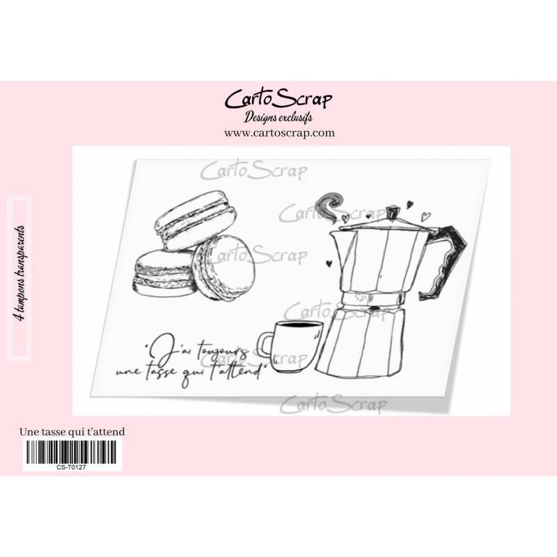 Tampons CartoScrap - Une tasse qui t'attend