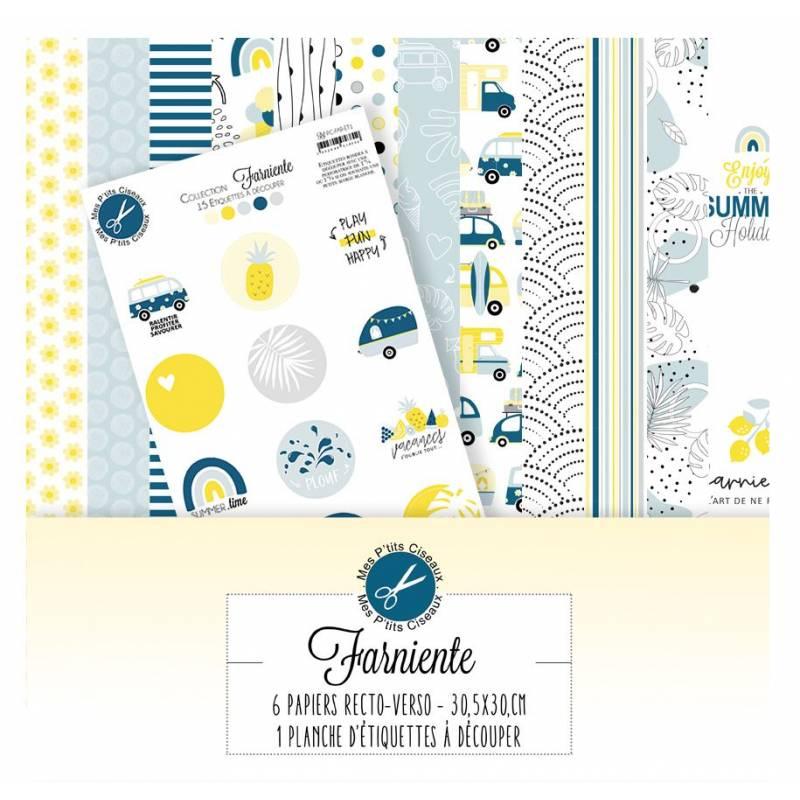 Pack Papier 30.5 x 30 - Mes P'tits Ciseaux - Collection Farniente