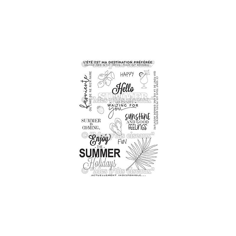 Tampons clear - Mes Ptits Ciseaux - Farniente - Summer