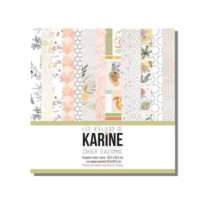 Pack Papiers 30 x 30 - Les Ateliers de Karine -Cahier d'automne