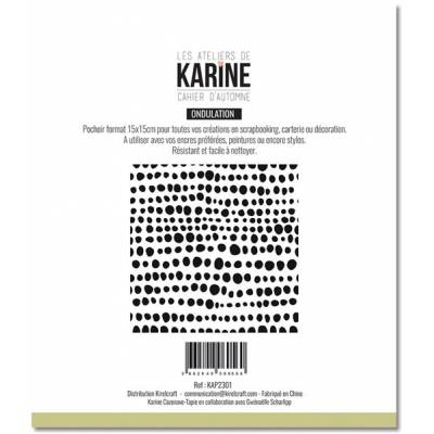 Pochoir - Cahier d'automne - Ondulations