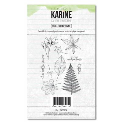 Tampons clear - Collection Cahier d'automne - Feuilles d'automne