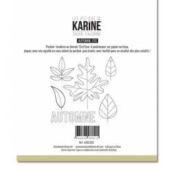 Pochoir Broderie - Cahier d'automne - Automne