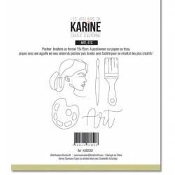 Pochoir Broderie - Cahier d'automne - Art
