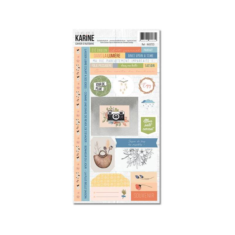 Collection Cahier d'automne - Stickers - 15 x 30