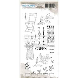 Tampons Clear - Chou & Flowers - Green