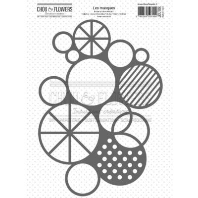 Pochoir - Chou & Flowers - Journal chromatique - Cercle