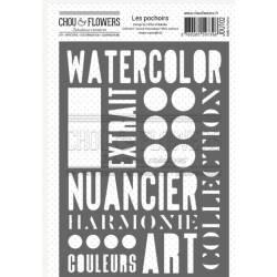 Pochoir - Chou & Flowers - Journal chromatique - Mots couleurs