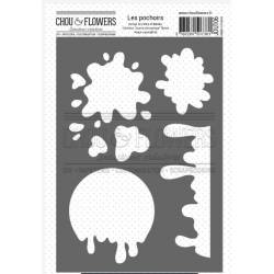 Pochoir - Chou & Flowers - Journal chromatique - Tache