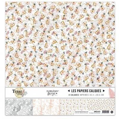 Kit Calques Imprimés Florilèges - Terre des sens - 30.5 X 30.5