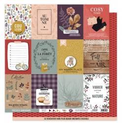 Kit Papiers Imprimés Florilèges - Terre des sens - 30.5 X 30.5