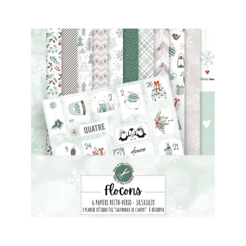 Pack Papier 30.5 x 30 - Mes P'tits Ciseaux - Collection Flocons